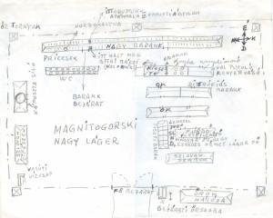Helyszinrajz a magnyitogorszki nagy lagerrol (Kelemen Istvan rajza)