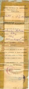 Kelemen Istvan ideiglenes igazolvanya, a szemelyazonossagi igazolvany kiallitasa elott (1949. oktober 18.)